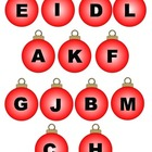 File Folder Game: Ornament Letter Matching