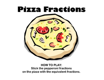 File Folder Game: Pizza Fractions (Equivalent Fractions Practice)