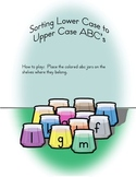 File Folder Game for Matching Capitals to Lower Case Letters