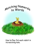 File Folder Game for teaching Numbers 1-12 and Number Words