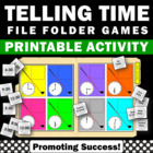 File Folder Game or Cut & Paste Telling Time Golf