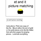 File Folder Games: -et and -it Family Picture Matching