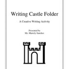 File Folder Writing Castle - Creative Writing