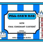 Fill Cat's Hat With Cluster Sorts :  Word Study Games For