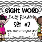 Fill In The Sight Word Readers Set #2 {and, we, a, to, you, are}