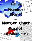 Fill in Number Charts and Number Chart Puzzles 1-310