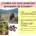 Fill in the Blank Notes for Ecuador PowerPoint