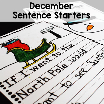 Prompts for Beginning Writers (December)