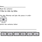 Filmstrip Sentence building Freebie