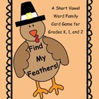 Find My Feathers!  A Short Vowel Word Family Card Game