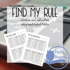 Find My Rule!  Addition and Subtraction Sums to 20