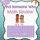 Find Someone Who - 2.NBT.A.1 - 3 Digit Place Value - Commo
