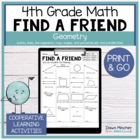 Find Someone Who - 4.G.A.1 - Geometric Figures - Common Core Math