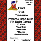 Find That Treasure Basic Skill File Folder Games