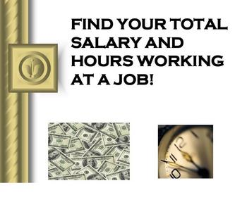 Find Your Total Salary and Hours
