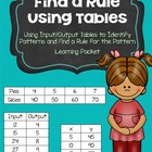 Find a Rule / Input & Output Tables Learning Packet