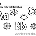 Find and color the alphabet letters