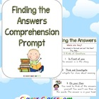 Find the Answers Comprehension Prompt Poster - 1 page