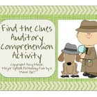 Speech Therapy: Find the Clues: Auditory Comprehension Activity