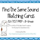 Find the Same Sound Matching Cards - 2nd Grade Test Prep