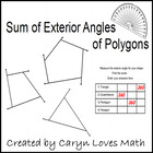 Find the sum of the Exterior Angles of a Polygon- Geometry