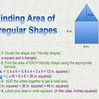 Finding Area of Irregular Shapes: Process Chart