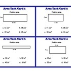 Finding Area of Rectangle Square Triangle Task Cards Geometry