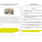 Finding & Citing Sources - MLA Style - Worksheet & Sample