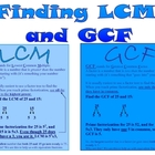Finding LCM nd GCF