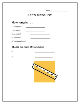 Finding Measurement with a Ruler - Interactive Activity