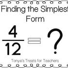 Finding Simplest Form