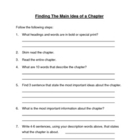 Finding The Main idea of a Chapter