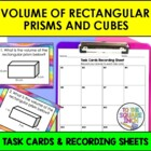 Finding Volume of Rectangular Prisms and Cubes Task Cards,