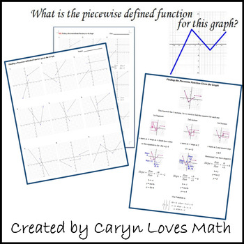 Finding the Equations for the Graph of a Piecewise-Defined