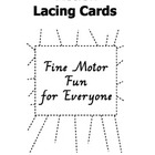 Fine Motor Fun Action Lacing Cards