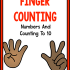 Finger Counting T 10 With Matching Posters!  A Common Core