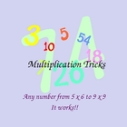 Finger Multiplication Trick for 5x6 to 9x9