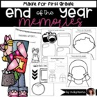 Finishing Up First { first grade end of the year memory book }