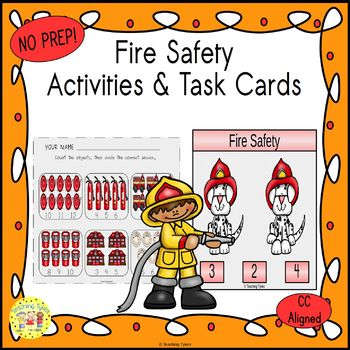 Fire Prevention Count & Clip Cards *Common Core Aligned*