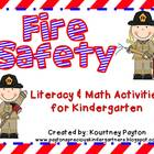Fire Safety Center Literacy and Math Activities - Common C