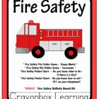 Fire Safety File Folder Games &amp; Bulletin Board Set