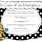 Fire Safety Homework & Parent Letter (K-5)