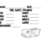 Fire Safety Syllable Sort