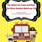 Fire Safety Ten Frame and Base Ten Number Match