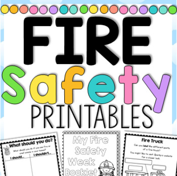 Fire Safety Week with Sparky the Fire Dog - Printables for Grades 1-2