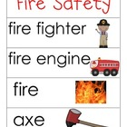 Fire Safety Word Cards and Word Walls {in English and Spanish}
