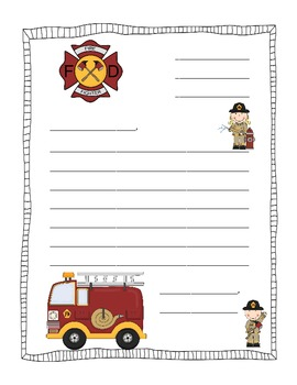 Firefighter Friendly Letter Pack