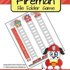 Fireman Customizable File Folder Game Board