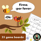 Firma, Por Favor! 36 page packet with 32 Communicative Act