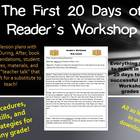 First 20 Days of Reader's Workshop Mini Lessons for Grades K-6
